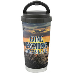 Gone Fishing Stainless Steel Travel Mug (Personalized)