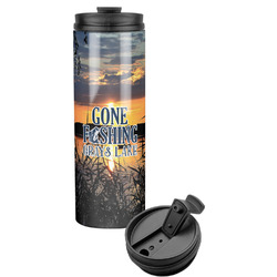 Gone Fishing Stainless Steel Travel Tumbler (Personalized)