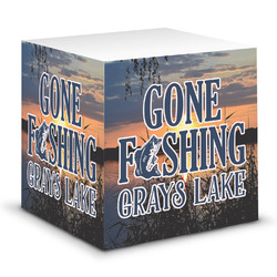 Gone Fishing Sticky Note Cube (Personalized)