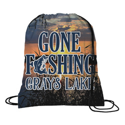 Gone Fishing Drawstring Backpack (Personalized)