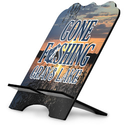 Gone Fishing Stylized Tablet Stand (Personalized)