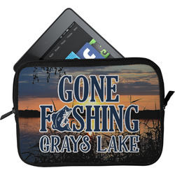 Gone Fishing Tablet Case / Sleeve (Personalized)