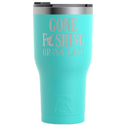 Hunting Quotes and Sayings RTIC Tumbler - Teal - 30 oz (Personalized)