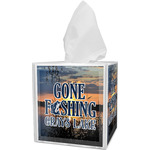 Gone Fishing Tissue Box Cover (Personalized)