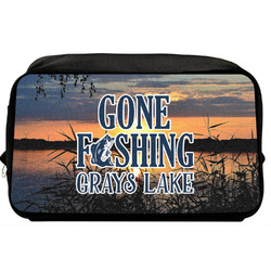 Gone Fishing Toiletry Bag / Dopp Kit (Personalized)