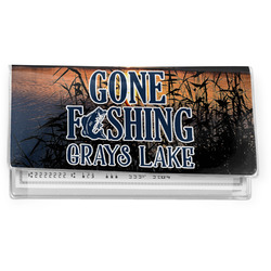 Gone Fishing Vinyl Checkbook Cover (Personalized)