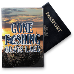 Gone Fishing Vinyl Passport Holder (Personalized)