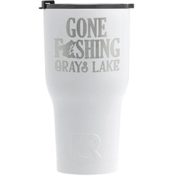 Hunting / Fishing Quotes and Sayings RTIC Tumbler - White - Engraved Front (Personalized)