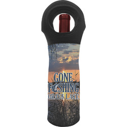 Gone Fishing Wine Tote Bag (Personalized)