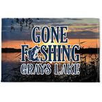 Gone Fishing Woven Mat (Personalized)