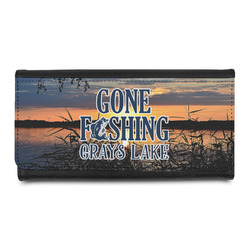 Gone Fishing Leatherette Ladies Wallet (Personalized)