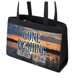 Gone Fishing Zippered Everyday Tote (Personalized)