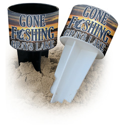 Gone Fishing Beach Spiker Drink Holder (Personalized)