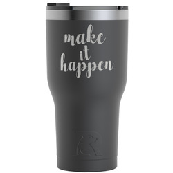 Inspirational Quotes and Sayings RTIC Tumbler - Black (Personalized)
