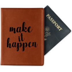 Inspirational Quotes and Sayings Leatherette Passport Holder (Personalized)