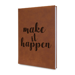 Inspirational Quotes and Sayings Leatherette Journal (Personalized)