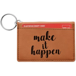 Inspirational Quotes and Sayings Leatherette Keychain ID Holder (Personalized)