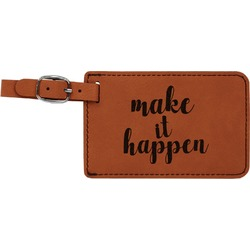 Inspirational Quotes and Sayings Leatherette Luggage Tag (Personalized)