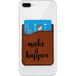 Inspirational Quotes and Sayings Leatherette Phone Wallet (Personalized)
