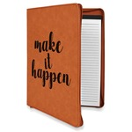 Inspirational Quotes and Sayings Leatherette Zipper Portfolio with Notepad (Personalized)