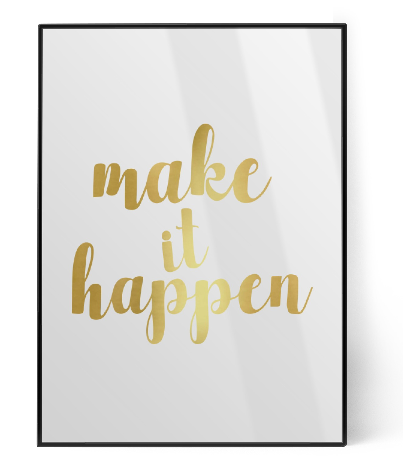 Inspirational Quotes and Sayings Foil Print (Personalized ...