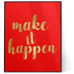 Inspirational Quotes and Sayings 8x10 Foil Wall Art - Red (Personalized)