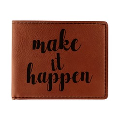 Inspirational Quotes and Sayings Leatherette Bifold Wallet - Single Sided (Personalized)