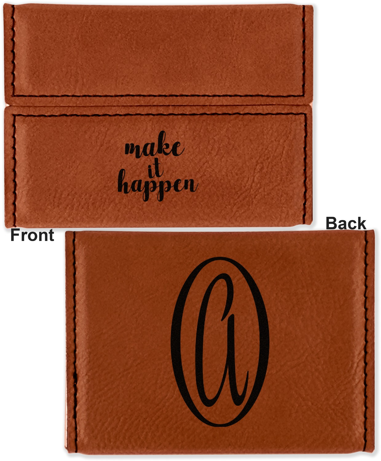 inspirational quotes and sayings leatherette business card holder