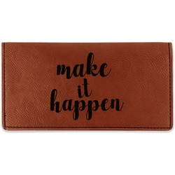 Inspirational Quotes and Sayings Leatherette Checkbook Holder (Personalized)