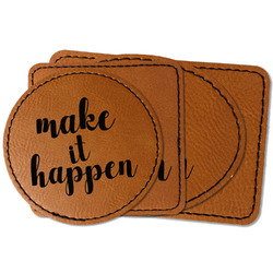 Inspirational Quotes and Sayings Faux Leather Iron On Patch