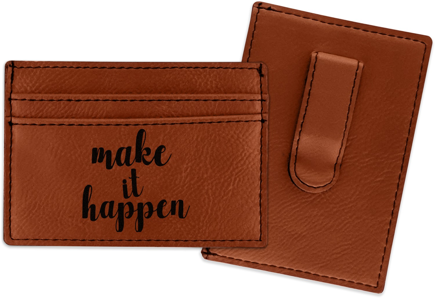 Inspirational Quotes And Sayings Leatherette Wallet With Money Clip