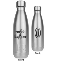 Inspirational Quotes and Sayings RTIC Bottle - Silver - Engraved Front & Back (Personalized)