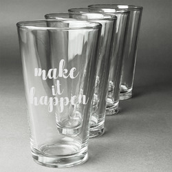 Inspirational Quotes and Sayings Beer Glasses (Set of 4) (Personalized)