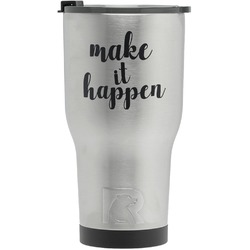 Inspirational Quotes and Sayings RTIC Tumbler - Silver (Personalized)
