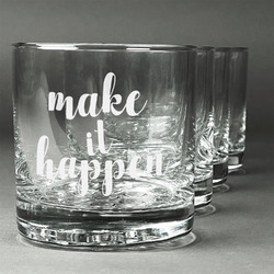 Inspirational Quotes and Sayings Whiskey Glasses (Set of 4) (Personalized)