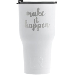 Inspirational Quotes and Sayings RTIC Tumbler - White - Engraved Front (Personalized)
