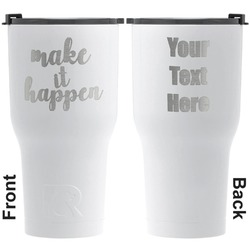 Inspirational Quotes and Sayings RTIC Tumbler - White - Engraved Front & Back (Personalized)