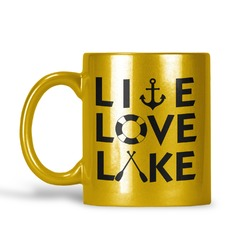 Lake House Quotes and Sayings Gold Mug (Personalized)