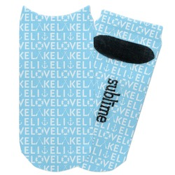 Live Love Lake Adult Ankle Socks (Personalized)