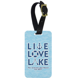 Live Love Lake Aluminum Luggage Tag (Personalized)