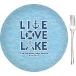 "Live Love Lake Glass Appetizer / Dessert Plates 8"" - Single or Set (Personalized)"