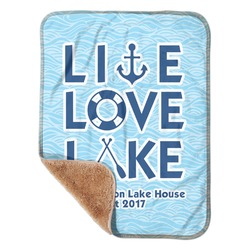 """Live Love Lake Sherpa Baby Blanket 30"""" x 40"""" (Personalized)"""