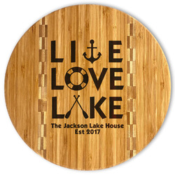 Live Love Lake Bamboo Cutting Board (Personalized)