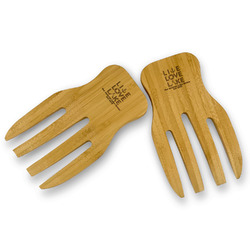 Live Love Lake Bamboo Salad Mixing Hand (Personalized)