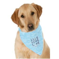 Live Love Lake Dog Bandana Scarf w/ Name or Text