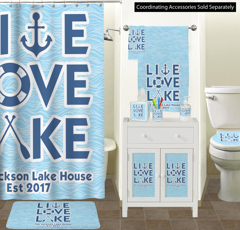 Love Lake Acrylic Bathroom Accessories, Lake Cabin Bathroom Decor