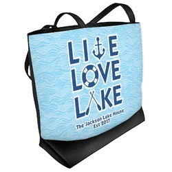 Live Love Lake Beach Tote Bag (Personalized)