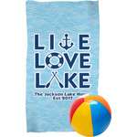Live Love Lake Beach Towel (Personalized)