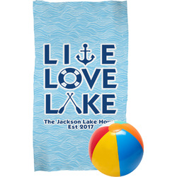 Live Love Lake Beach Towel (Personalized)