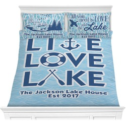Live Love Lake Comforters (Personalized)
